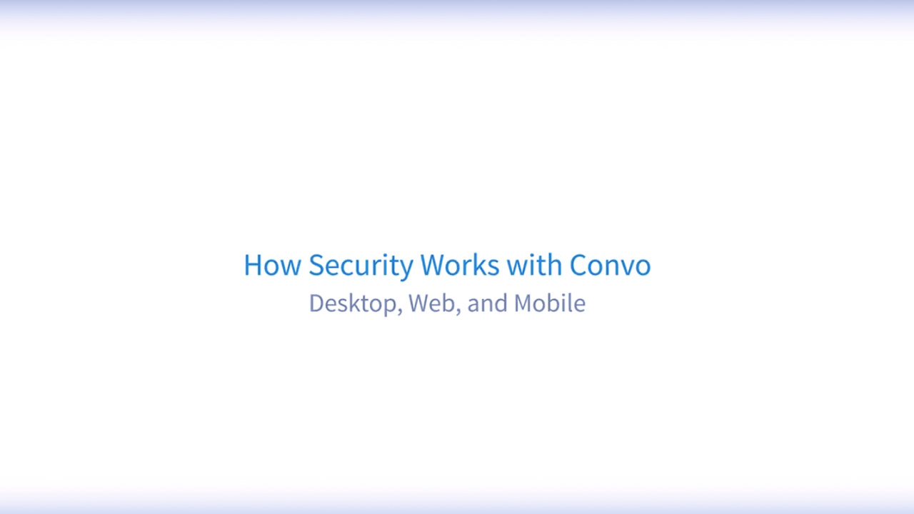 Convo provides Bank Grade Security